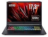 Acer Nitro 5 (AN517-52-7335) 43,9 cm (17,3 Zoll Full-HD IPS 120 Hz matt) Gaming Laptop (Intel Core i7-10750H, 16 GB RAM, 512 GB PCIe SSD, NVIDIA GeForce RTX 2060, Win 10 Home) schwarz/rot